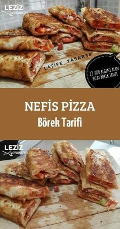 Leckeres Pizza-Burrito-Rezept – börek tarifleri – – Vegan yemek tarifleri – The Most Practical and Easy Recipes Yummy Recipes, Fun Easy Recipes, Vegan Recipes, Easy Meals, Yummy Food, Kraft Recipes, Pastry Recipes, Pizza Recipes, Avocado Dessert