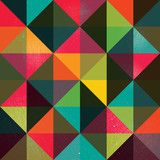 Wektor: A retro geometric vector pattern with a grunge texture
