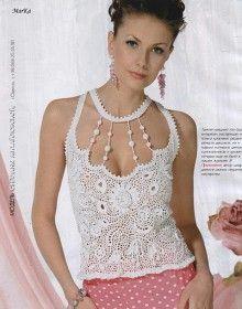 cute summer top for ladies, crochet pattern