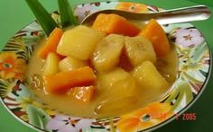 Kolak pisang, ( braised banana with palm sugar and coconut gravy desserts) pls try this recipe , specially during winter time, is really really good . Indonesia