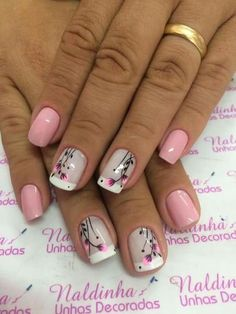 Super cute nails, manicures, nail designs, and nail art Super Cute Nails, Great Nails, Fabulous Nails, Gorgeous Nails, Manicure Nail Designs, Nail Manicure, Toe Nails, Nail Art Designs, Manicure Ideas