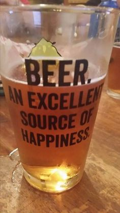 beer an excellent source of happiness.....