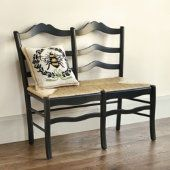 <3 this ladder back chair bench!