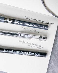 These are my three all-time favorite pens to use in my journal:⠀ ⠀ Pilot HI-Tecpoint V5 for my headers⠀ ⠀ Pilot G-TEC C4 for my writing⠀ ⠀ Sakura Koi Coloring Brush Pen in light cool gray for some coloring 😜⠀ ⠀ I´m always searching for new pens with a very fine tip. ⠀ So I would love to read about your favorite pens to use maybe I can discover something new to try.😄⠀ Coloring Brush Pen, New Pen, My Journal, Headers, Koi, Pens, Searching, Pilot, All About Time