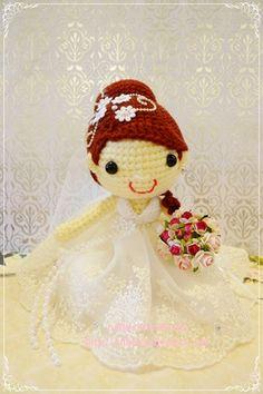 Amigurumi wedding dolls