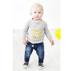 Baby boy clothing - Baobab - Raglan Dog Print Tee  Price: $36.95 Description:  Adorable and oh so funky baby boys long sleeve raglan tee by Baobab!  Made from super soft 100% organic cotton knit fabric with contrast colour elbow patches and mother-of-pearl buttons. Machine washable.  Baby boy clothing - Baobab