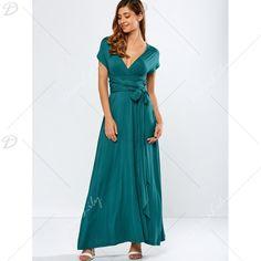 Backless Μετατρέψιμα Prom φόρεμα, μαυριδερό GREEN, XL σε Maxi Φορέματα | DressLily.com Cheap Maxi Dresses, Prom Dresses, Backless, Neckline, Casual, Sleeves, Shopping, Women, Style