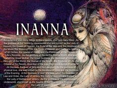 Mythology + Religion: Goddess Inanna also known as Ishtar Mythological Creatures, Mythical Creatures, Norse Goddess, Ishtar Goddess, Goddess Of Love, Isis Goddess, Mother Goddess, World Mythology, Norse Mythology Goddesses