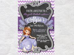 Sofia the First Birthday Invitation Invite by VPrintables on Etsy
