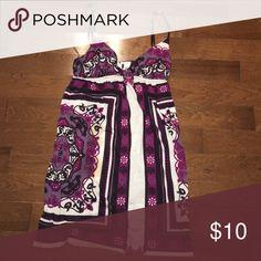 Purple swim suit cover up Cute purple white and black swimsuit coverup Full Tilt Swim Coverups