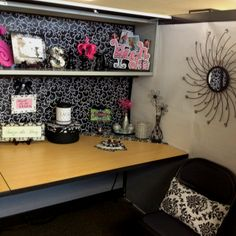 Cubicle Makeover...this is a little much though