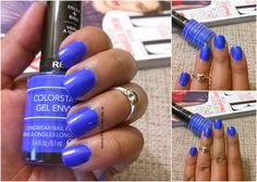 This Manicure Monday features Revlon Colorstay Gel Envy in 'Wild Card' . Its a beautiful bright blue color. I have been wanting to try . Gel Nail Polish, Gel Nails, Manicure, Off Sale, Revlon, Bright, Makeup, Cards, Maquiagem