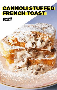 French Toast This French toast is STUFFED with cannoli cream. Get the recipe at .This French toast is STUFFED with cannoli cream. Get the recipe at . French Toast Roll Ups, Nutella French Toast, French Toast Bake, Chocolate French Toast, Cannoli Cream, Cannoli Dip, Cannoli Recipe, Breakfast Dishes, Breakfast Dessert
