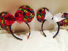 Autism Awareness Minnie Mouse Headband