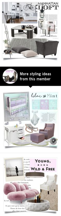"""""""Manhattan Loft"""" by clotheshawg on Polyvore featuring interior, interiors, interior design, home, home decor, interior decorating, Volcom, Allstate Floral, Pavilion Broadway and Zuo"""