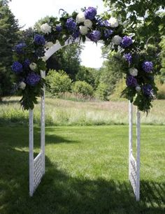 arbor like flower arrangements but want different material for arborlovely if we could get enough flowers