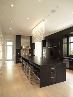 Kitchen.  Modern. Black.