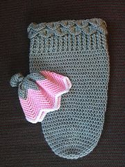 This is a pattern for a newborn cocoon, or baby swaddler. I did not use a full skein of Caron Simply Soft Heather, but I couldn't tell you exactly how much of the skein I used.