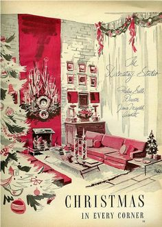 Vintage Ad Christmas in Every Corner. clb