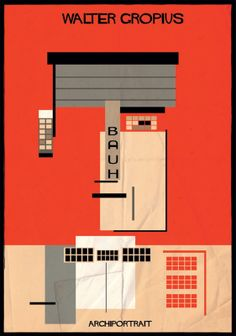 Tadao Ando, Gaudí, Niemeyer e outros arquitetos homenageados em pôsteres - Casa