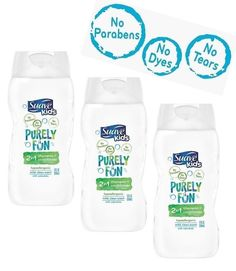 Suave Kids Purely Fun 2 in1 Shampoo + Conditioner (12 oz) Pack of 3 #Suave