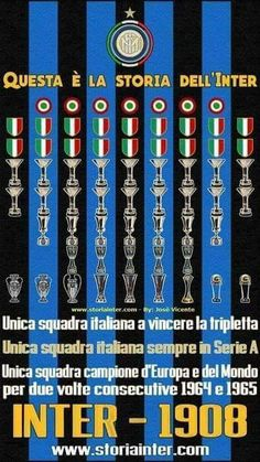 La storia dell'Inter in poche parole FORZA INTER 💙🖤🔵⚫ Milan Football, Retro Football, Football Soccer, Inter Sport, Pop Art Design, Hs Football, Football Team, Sports, Football Posters