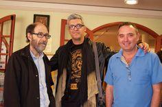 Iván López junto a los realizadores Josep Vilageliú (Izquierda) y Daniel León Lacave en una edición de la Muestra San Rafael en corto de Vecindario. Gran Canaria