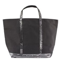 Toile et Paillettes Anthracite (Grand) / Sac Vanessa Bruno Sac Vanessa Bruno, Rebecca Minkoff, Tote Bag, Bags, Fashion, Bag Patterns, Fashion Today, Large Bags, Glitter