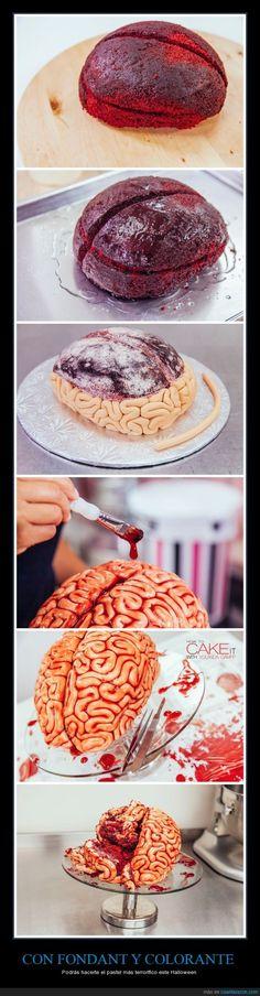 En la fuente tenéis el vídeo completo *___* - Podrás hacerte el pastel más terrorífico este Halloween