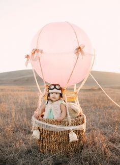 hot air balloon,child editorial,pink balloon,ruche,adventures of amelie,child size hot air balloon,pink and mint,DIY