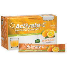 "Immune system boost (better than Emergen-C) with Vitamins C & E, Zinc, Astragalus, Aronia Berry ""Activate-C immune complex"""