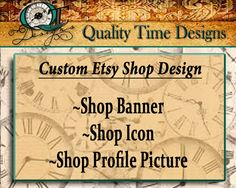 Custom Etsy Shop Design Header Profile Logo by QualityTimeDesigns