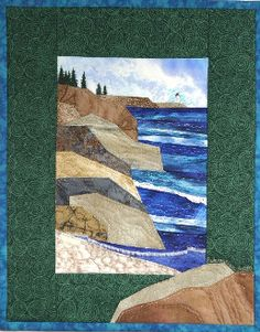 Northern Michigan's Best Quilting, Sewing and Yarn Shop Ocean Quilt, Beach Quilt, Landscape Art Quilts, Fabric Postcards, Quilt Modernen, Fabric Pictures, Miniature Quilts, Small Quilts, Fabric Art
