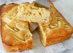 Gâteau léger aux pommes et aux bananes WW, recette d'un délicieux gâteau léger, bien fruité, sans beurre et sans sucre, parfait à faire pour le goûter.