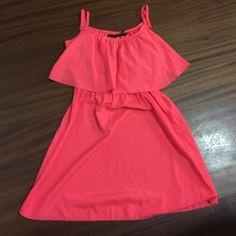 Pink sun dress Thin strap neon pink/orange sun dress Ali & Kris Dresses Mini