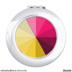 A Yellow compact mirror from Zazzle! Compact Mirror, Makeup Tools, Mirrors, Yellow, Mirror, Gold, Glass