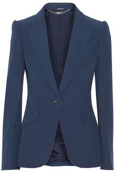 Alexander McQueen|Crepe blazer|NET-A-PORTER.COM