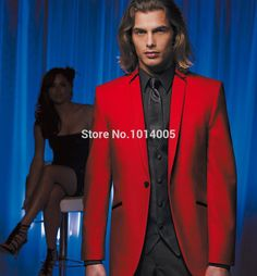 Find More Suits Information about  Custom Made Red Jacket and Black Pants Groom Tuxedos Best Man Groomsman Men Wedding Suits Bridegroom (Jacket+Pants+Vest+Tie),High Quality jacket pet,China jacket honda Suppliers, Cheap tie dc from Suzhou International Garment Ltd on Aliexpress.com