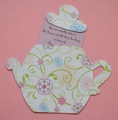 Wedding Shower Tea Pot Invitations Wedding Invitations