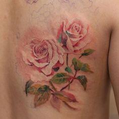 ing... - #타투 #그라피투 #타투이스트리버 #디자인 #그림 #디자인 #아트 #일러스트 #tattoo #graffittoo #tattooistRiver #design #painting #drawing #art #Korea #KoreaTattoo #rose #rosetattoo #장미 #장미타투 #watercolor #watercolortattoo #수채화 #수채화타투