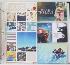 Project Life | Week Twenty-Five. 6x12 insert to the left made from a new layered template from design editor