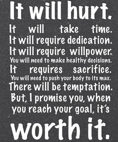 This is so true! The results of hard work and dedication are definitely worth it!