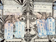 Artist Travels the World on Intricately-Doodled Passports, wow surely get stopped at our custom. Ha