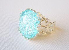 Princess Leila Adjustable Glass Ring Silver $5.99  from Franken Frosting (storenvy.com)