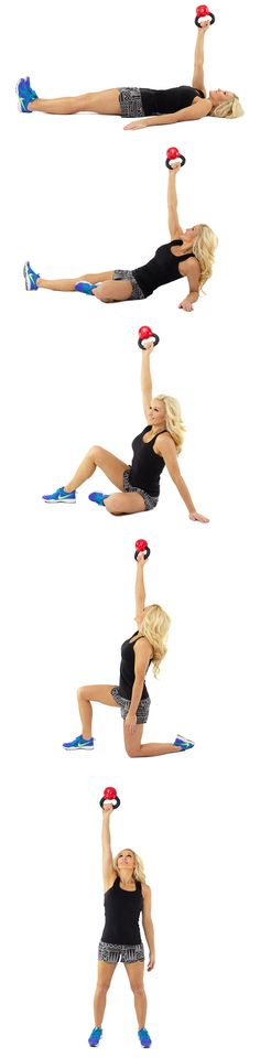 Great shoulder burner and makes you sweat, use 10-15lb db and 12-15 reps, 3 times through. Burn baby burn!!!