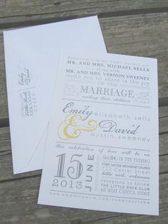 modern wedding invitation   Hobart's Paper Creations