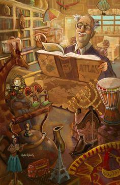 reading the atlas   (Hollie Hibbert)