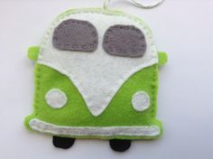 A personal favorite from my Etsy shop https://www.etsy.com/listing/229630147/green-campervan-felt-decoration