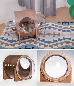 MYZOO have created the Spaceship Series, a line of fun and modern cat beds, plus one can be wall-mounted. Living With Cats, Cat Whisperer, F2 Savannah Cat, Secret Life Of Pets, Cat Room, Pet Furniture, Animal House, Pet Beds, Animal Design