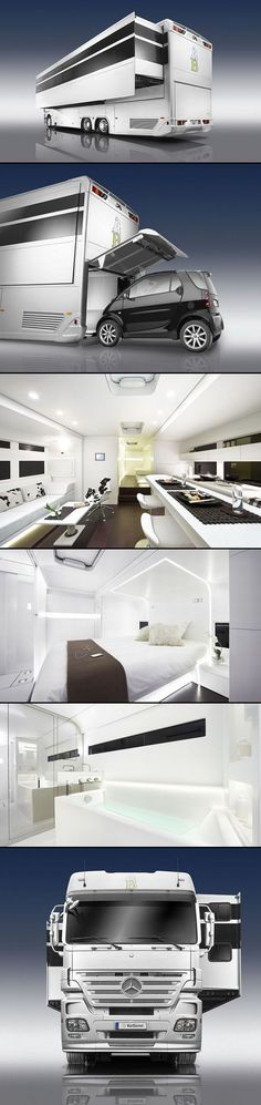 A-Cero's Mercedes Benz luxury caravan makes me want to give up my apartment haha. #design #cars